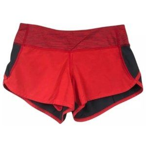 Lululemon Speed Shorts-Love Red/Coal, Size 6